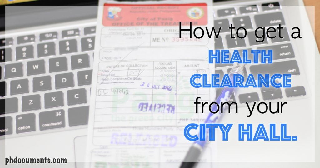 How To Get A Health Certificate Or Health Clearance From