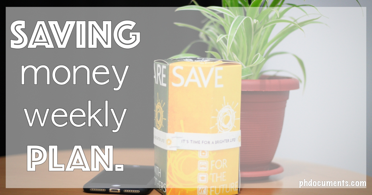 saving money weekly plan