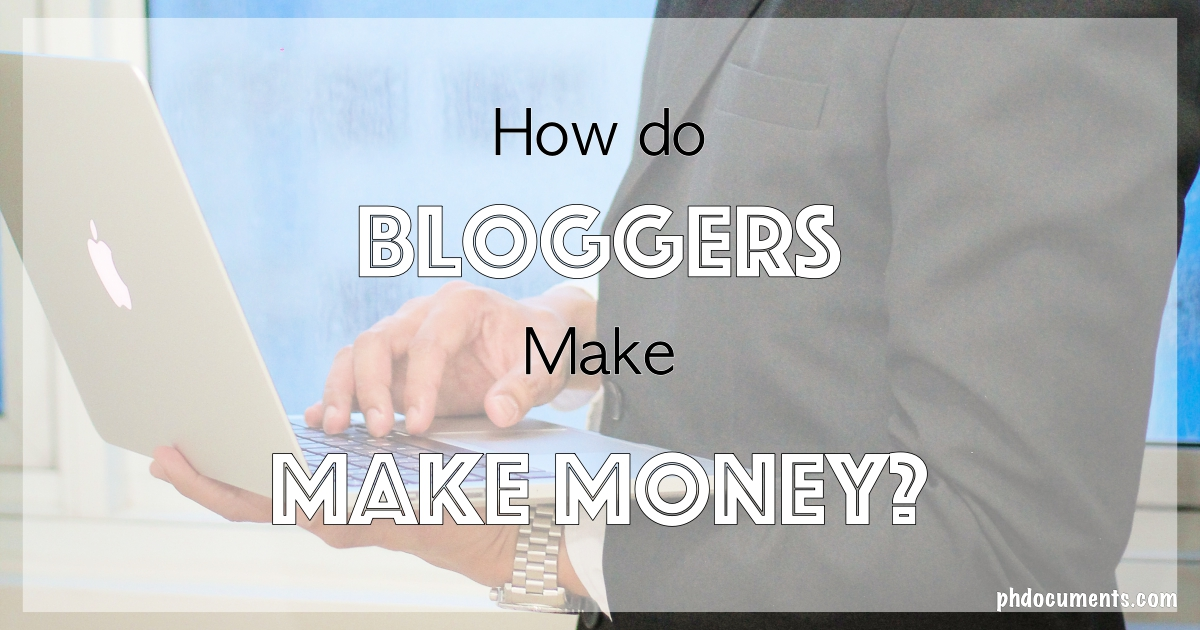 How do Bloggers Make Money Cover