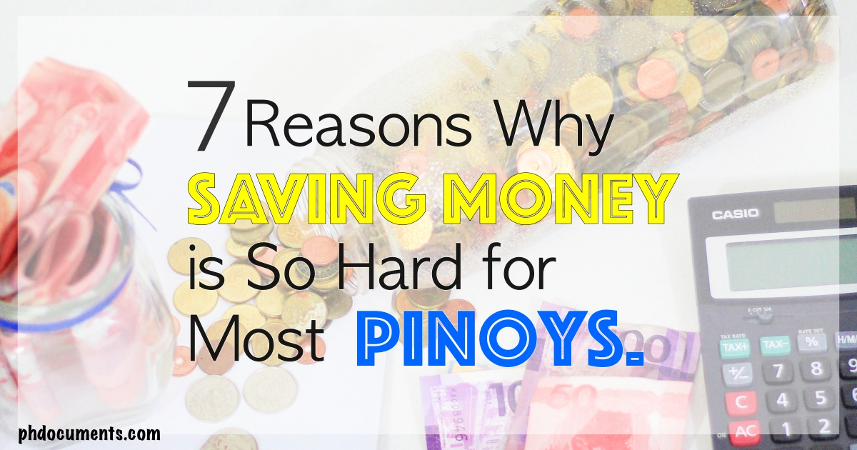 Why Most Pinoys are Not Saving Money